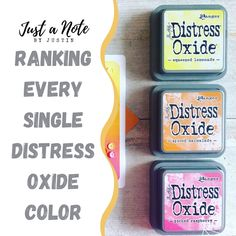 In this blog post, I rank all the currently available Distress Oxide Ink colors. Check it out and see where your favorites end up! New to Distress Oxides and Ink Blending? This post is a great way to see where to start your collection!