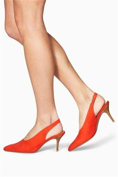 Buy Orange Slingback Points from the Next UK online shop
