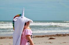 Yikes Twins Unicorn Hooded Towel | Etsy Swim Lessons, Beach Kids, Polar Fleece, Rainbow Colors, Baby Animals, Hoods, Little Girls, Twins, Towel