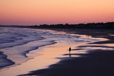 Folly Beach. I need to be there at sunset (sunrise?) Either one.....love this place!!!!!