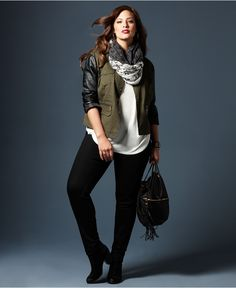 Fall Trend Report Plus Size Jackets Preferred Mixed-Media Look - Plus Sizes - Macy's