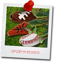 Our Sports Roses product line are a great way to accessorize your wedding.  #footballwedding  #stwdotcom