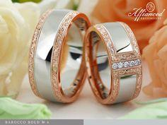 Barokk véséssel díszített, díjnyertes jegygyűrűk.