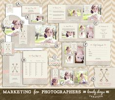 Photography Marketing Template Set Includes Logo Business Card and more INSTANT DOWNLOAD..I just wan to tweak the colors and logo to be closer to mine…..eeeek LOVE this!