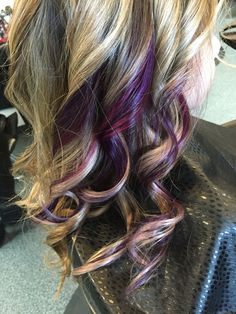 Coloured peekaboo with blonde highlights More
