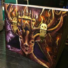 Furfur Spirit box WIP Pre-sale $250 for love, sex, and maintaining happy & healthy relationships. #furfur #hart #stag #goetia #goeticdemon #lesserkeyofsolomon #fullmoon #venusinpisces #love #sex #marriage #deer #fridaynightartdorks