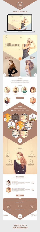 https://www.behance.net/gallery/26431723/Hexagon-One-Page-Portfolio-(Free-PSD)