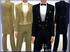 Bridegroom suit by Zuckerschnute20 at TSR via Sims 4 Updates