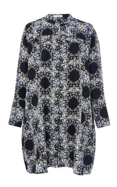 Anastasia Hortensia Printed Silk Dress by PIAMITA Now Available on Moda Operandi