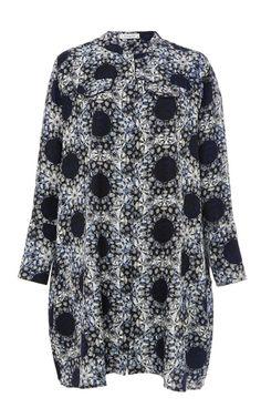 Anastasia Hortensia Printed Silk Dress by PIAMITA Now Available on Moda Operandi