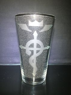 Fullmetal Alchemist Brotherhood, Etched Glass, Glass Etching, Pint Glass, Customized Gifts, Birthday Gifts, Just For You, Symbols, Tableware