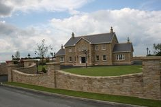 Dream Home Design, House Design, Building Stone, Shape Design, Natural Stones, House Plans, Exterior, Mansions, Landscape