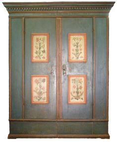 Antique painted wardrobe