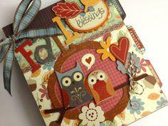 Cute Fall album  Artsy Albums Scrapbooking Kits