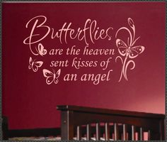 Vinyl Wall Lettering Nursery Decal Butterflies by WallsThatTalk, $13.00