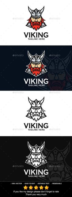 #Viking - #Vector Abstract Download here: https://graphicriver.net/item/viking/19646577?ref=alena994
