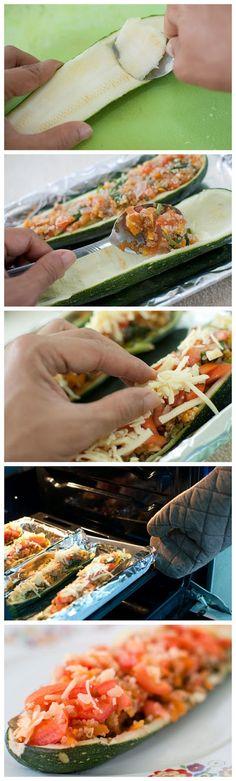 How to Make Quinoa Zucchini Boats