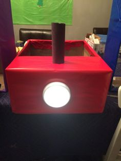 How to Make a Cardboard Train Car. Are you having a train themed party or does your child want to be a train or conductor for Halloween? Check this out.