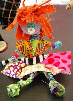 Kweezletown inhabitants! Fiber Art Figurines Terrific examples in the article!