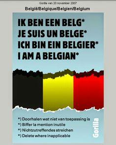 Ik ben een Belg