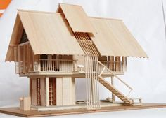 Amazing Architectural Model is part of Architecture - An architectural model is a type of scale model a physical representation of a structure built to study aspects of an architectural design or to communicate design ideas Depending… Architecture Design, Architecture Model Making, Bamboo Architecture, Tropical Architecture, Vernacular Architecture, Architecture Student, Sustainable Architecture, Architecture Concept Drawings, Architecture Panel