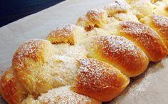 Treccia di pan brioche al kefir