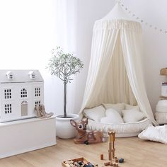 Security Check Required [New] The 10 Best Home Decor Ideas Today (with Pictures) - This type of simple nursery will give your kids comfort yet chic at the same time. Especially if you put that kind of canopy in the corner of the room.