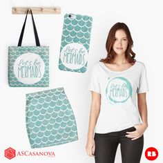 Let´s be mermaids collection by ASCasanova.  You can find this design in Redbubble http://www.redbubble.com/people/ascasanova/works/22959691-lets-be-mermaids?asc=u&ref=recent-owner
