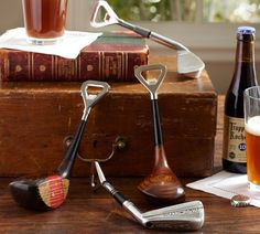 Authentic Golf Club Bottle Openers $49 from Pottery Barn