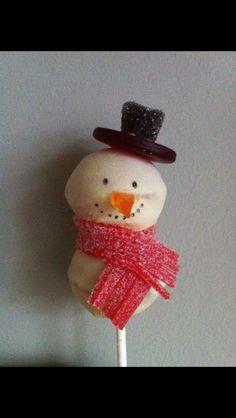 Sneeuwman Cakepop