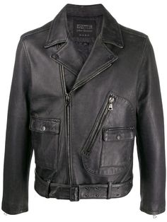 Biker, Motorcycle Jacket, Military Jacket, Real Leather, Black Leather, John Varvatos, Led Zeppelin, Women Wear, Leather Jacket
