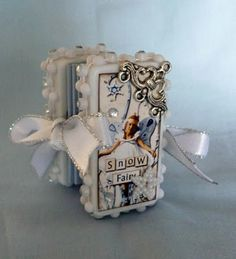 Domino book - tiny and delicate.