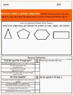 AHH TEACHING! : Math Station Guide and Reflections Page