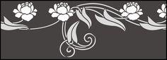Click to see the actual DE216 - Border No 124 stencil design.