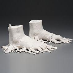 Human or Animal? Disturbing Sculptures Merge Worlds