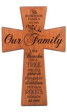 Personalized Family Wall Cross Gift – Our Family - Geschenkideen 1st Wedding Anniversary Gift, Anniversary Decorations, Year Anniversary Gifts, Second Anniversary, Golden Anniversary, Anniversary Ideas, Gift Wedding, Family Wall, Wedding Gifts For Parents