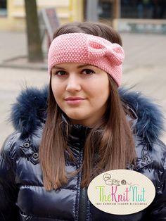 on SALE - Knitted Bow Headband, Pink Bow Ear Warmer, Women's Winter Accessory Knit Head Wrap, Knitted Ear Warmer, Knit Hair Wrap by TheKnitNut on Etsy Crochet Baby Cardigan, Knitted Headband, Knitted Gloves, Free Baby Blanket Patterns, Beginner Crochet Projects, Headband Pattern, Winter Accessories, Baby Sweaters, Ear Warmers