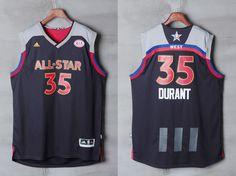 Mens Adidas Oklahoma City Thunder  35 Kevin Durant Black 2017 Nba All-star  Game 91860ef4e
