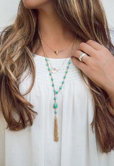 The Ava | Long Tassel Necklace