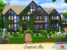 English Ivy is a family home built on a 50 x 50 lot in Willow Creek. Found in TSR Category 'Sims 4 Residential Lots'