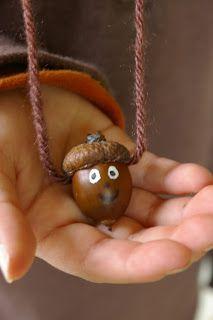 Little acorn necklaces!