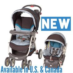 The baby Trend Envy Travel System in Emory includes an adjustable back infant car seat with an EZ Flex-Loc stay in car base. Only available in Canada.