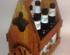 Personalized 6 Bottle Beer Tote Beautiful handmade Beer Totes make an AWESOME gift