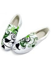 White Vines Canvas TPR Sole Womens Painted Shoes $18.99