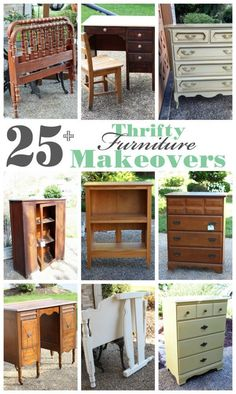 25 Thrift store, yard sale, estate sale furniture makeovers from confessionsofaser. - home diy projects,home diy projects ideas,home diy projects for beginners Thrift Store Furniture, Refurbished Furniture, Plywood Furniture, Repurposed Furniture, Furniture Making, Vintage Furniture, Painted Furniture, Home Furniture, Furniture Design