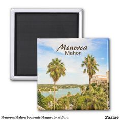 Shop Menorca Mahon Souvenir Magnet created by stdjura. Round Magnets, Menorca, Paper Cover, Recycling, Shapes, Cool Stuff, Feelings, Prints, Image