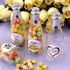 candy is always great as a favor but mix it up with the container you put it in