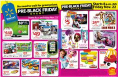 Walmart Pre-Black Friday Event 11/22/13 – matching black friday prices!
