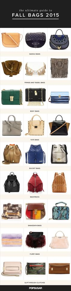 Looking for a new bag for Fall? Here are the bags you should be choosing from