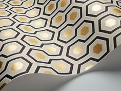 Lynn Chalk - Hicks Hexagon Wallpaper by Cole